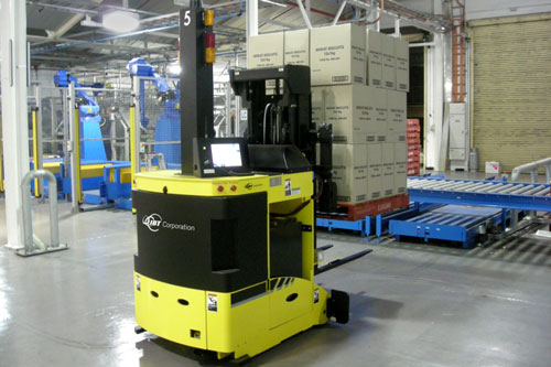 Ultracapacitor energy storage for material handling and intralogistics forklift