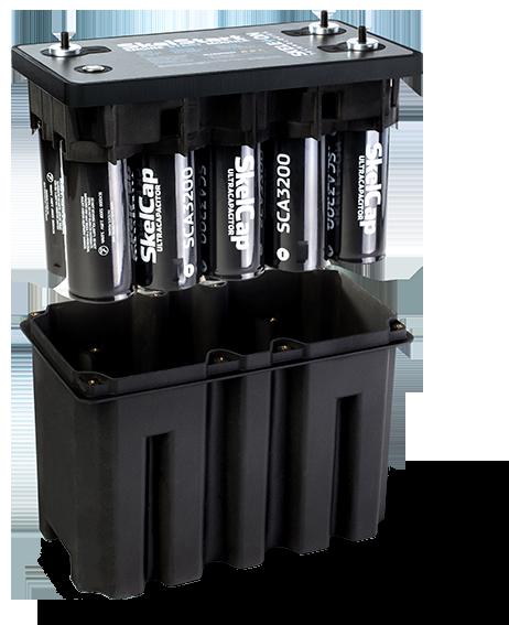 SkelStart with SkelCap ultracapacitors